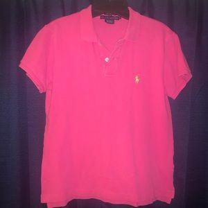 Women's Pink Ralph Lauren Polo - Sz Medium